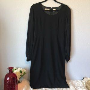 Black sheer sleeves dress size 6